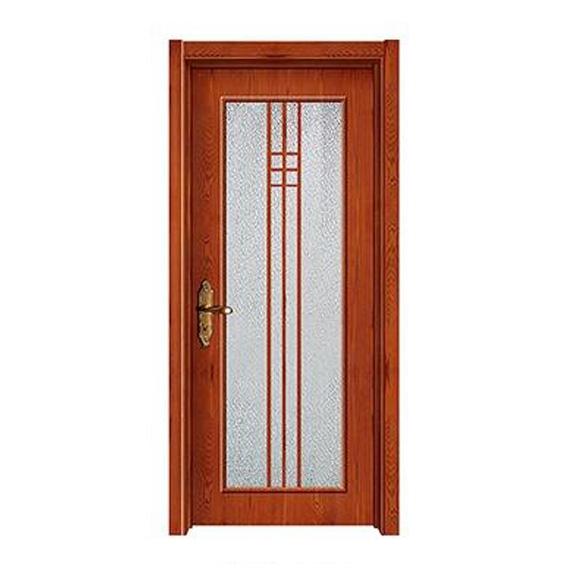 玻璃式原木门